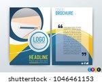 abstract modern flyers brochure ...   Shutterstock .eps vector #1046461153