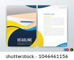 abstract modern flyers brochure ... | Shutterstock .eps vector #1046461156