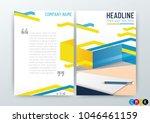 abstract modern flyers brochure ...   Shutterstock .eps vector #1046461159
