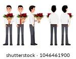 vector illustration of business ... | Shutterstock .eps vector #1046461900