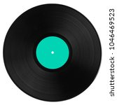black vinyl record with strong... | Shutterstock . vector #1046469523