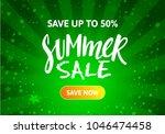 green summer sale banner design.... | Shutterstock .eps vector #1046474458