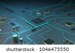 multicore processor on an... | Shutterstock . vector #1046475550