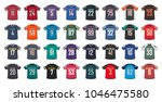 american football generic shirts | Shutterstock .eps vector #1046475580
