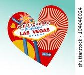 i love las vegas icon   Shutterstock .eps vector #104648024