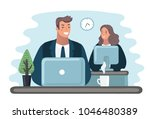 concept of the coworking center.... | Shutterstock .eps vector #1046480389