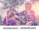 beautiful young blonde woman in ...   Shutterstock . vector #1046481604