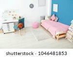 interior of cozy children's... | Shutterstock . vector #1046481853