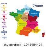 colorful map of france with... | Shutterstock .eps vector #1046484424