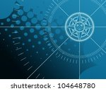 blue background with compass... | Shutterstock .eps vector #104648780
