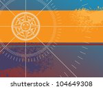 color background with compass... | Shutterstock .eps vector #104649308