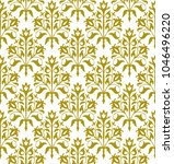 decorative seamless floral... | Shutterstock .eps vector #1046496220