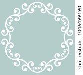 elegant vector ornament in...   Shutterstock .eps vector #1046499190