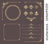vintage set of vector... | Shutterstock .eps vector #1046499259
