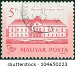 hungary   circa 1986  a stamp... | Shutterstock . vector #104650223