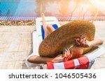 summer lifestyle traveler woman ...   Shutterstock . vector #1046505436