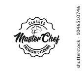 chef logo template. restaurant  ... | Shutterstock .eps vector #1046510746