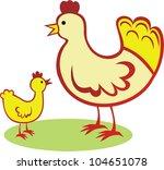 vector illustration of chickens | Shutterstock .eps vector #104651078