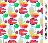 healthy lifestyle diet porridge ... | Shutterstock .eps vector #1046513830