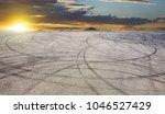 sunset asphalt asphalt tire...   Shutterstock . vector #1046527429