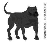cartoon  silhouette of a... | Shutterstock .eps vector #1046528410