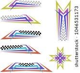 vehicle graphics  stripe  ... | Shutterstock .eps vector #1046531173