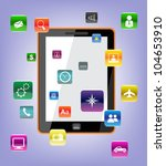 vector concept tablet pc icons.   Shutterstock .eps vector #104653910