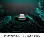self driving car 3d rendering | Shutterstock . vector #1046541409