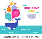 children summer camp  poster... | Shutterstock .eps vector #1046541790