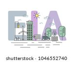 environmental impact assessment ... | Shutterstock . vector #1046552740