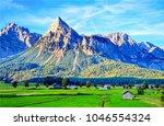 mountain peaks landscape | Shutterstock . vector #1046554324