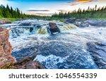 Rapid River Landscape. Water...