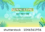 best summertime party... | Shutterstock .eps vector #1046561956