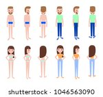 female and male constructor ... | Shutterstock .eps vector #1046563090