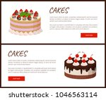 cakes variety delicious...   Shutterstock .eps vector #1046563114