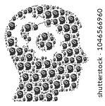 intellect gears pattern made in ... | Shutterstock . vector #1046566960