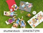 top view of group of young... | Shutterstock . vector #1046567194