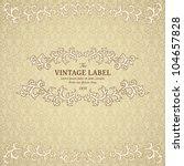 vintage frame on polka dot... | Shutterstock .eps vector #104657828