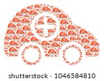 ambulance car figure made in... | Shutterstock . vector #1046584810