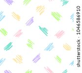 hand drawn colorful various... | Shutterstock .eps vector #1046586910