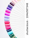 palette with swatches of nail... | Shutterstock . vector #1046587348