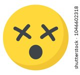 smiley with crossed eyes  dizzy ... | Shutterstock .eps vector #1046602318