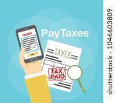 pay taxes illustration   Shutterstock .eps vector #1046603809