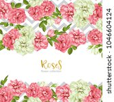wedding invitation with wild... | Shutterstock .eps vector #1046604124