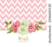 wedding invitation with wild... | Shutterstock .eps vector #1046604130