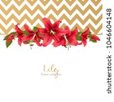 wedding invitation with lily... | Shutterstock .eps vector #1046604148