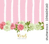 wedding invitation with wild... | Shutterstock .eps vector #1046604160