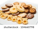 Different Biscuits Isolated On...