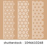 vector set of line borders with ... | Shutterstock .eps vector #1046610268