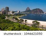 view of botafogo beach with the ... | Shutterstock . vector #1046621050